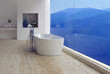 Freestanding bathtub with a mountain view - 100720256