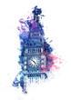 Obrazy na płótnie, fototapety, zdjęcia, fotoobrazy drukowane : Colorful watercolor painting of Big Ben