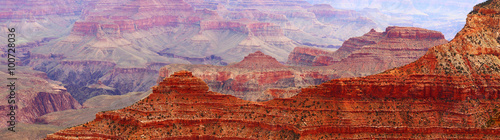 Poster Landschappen Panoramic view during sunrise in Grand Canyon national park, Arizona, USA