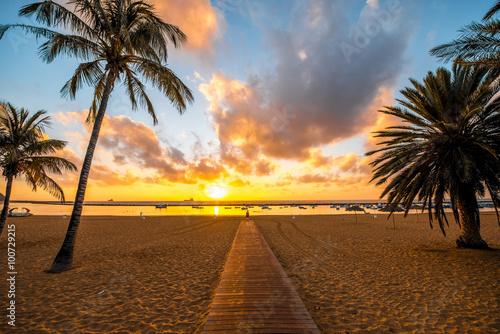 Deurstickers Canarische Eilanden Teresitas beach in Santa Cruz de Tenerife