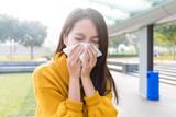 Young asian woman feeling unwell