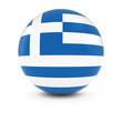 Obrazy na płótnie, fototapety, zdjęcia, fotoobrazy drukowane : Greek Flag Ball - Flag of Greece on Isolated Sphere