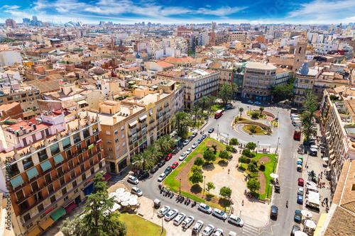Zdjęcia na płótnie, fototapety, obrazy : Valencia aerial skyline