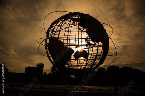 Globe Silhouette Poster