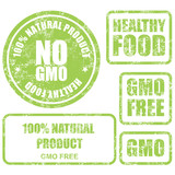 Shabby GMO free stamps, stickers and labels
