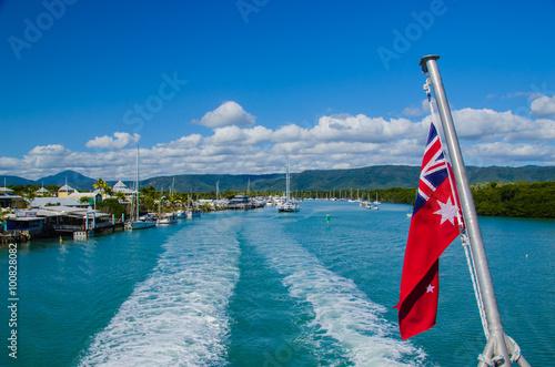Poster Bootsfahrt in das Great Barrier Reef