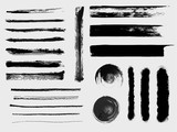 Fototapety Set of grungy vector brushes