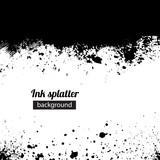 Fototapety Grunge black ink splattered background