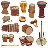 African traditional musical instruments
