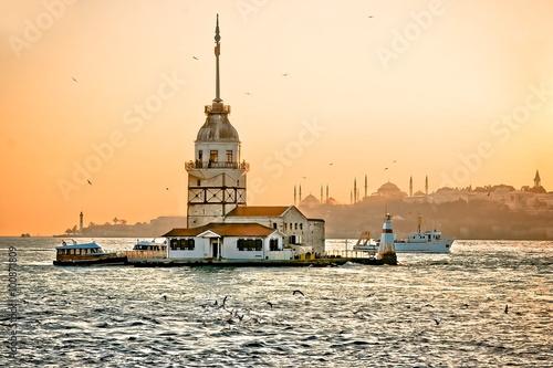 Poster  Maiden's tower. (Kiz Kulesi) Istanbul