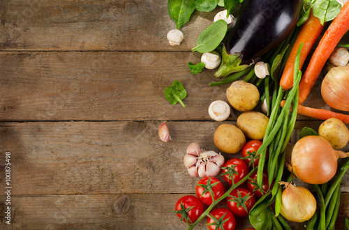 Healthy organic vegetables. Poster