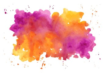 Vector watercolor abstract hand painted background. Watercolor t
