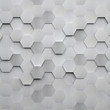 Brushed Metal Hexagon Background