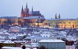 Prague Castle at winter time