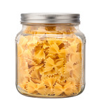 Farfalle Bow Tie Pasta in a Glass Jar