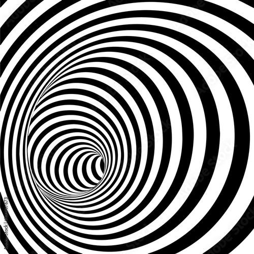 fototapeta na ścianę Spiral Striped Abstract Tunnel Background.