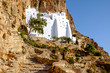 Detail view of Panagia Hozovitissa monastery on Amorgos island,