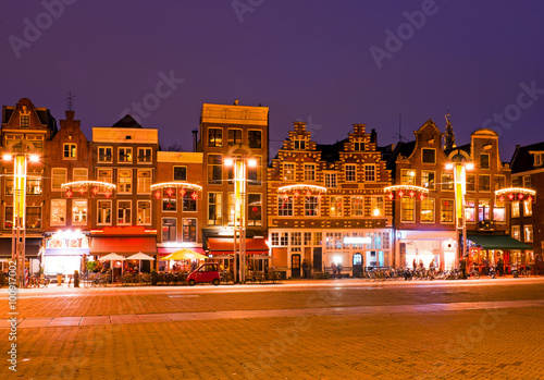 AMSTERDAM, NETHERLANDS - January 3, 2016: Amsterdam houses at ch