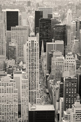 New York City Manhattan street aerial view black and white © rabbit75_fot