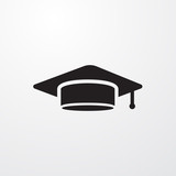 Student cap sign icon for web and mobile.
