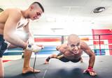 Athlete doing push ups