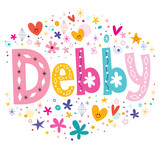 Debby girls name decorative lettering type design