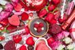 Obrazy na płótnie, fototapety, zdjęcia, fotoobrazy drukowane : Assorted Gifts and Treats for Valentine