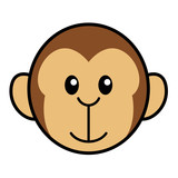 Simple Cartoon Of A Cute Monkey