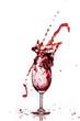 Quadro red wine and wine splash