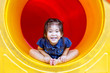 asian girl play color in playground