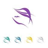 hair salon logo icon Vector