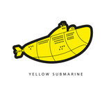 Yellow submarine illustration.