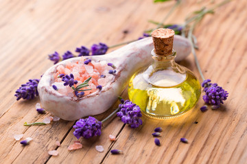 Spa and beauty - Lavender, herbs and bath salt