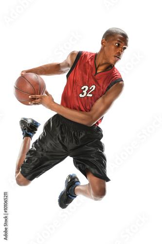 Aluminium Basketbal African American Basketball Player