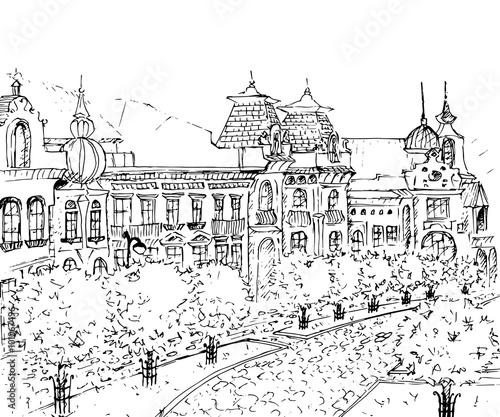 In de dag Art Studio City Sketch