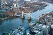 Obrazy na płótnie, fototapety, zdjęcia, fotoobrazy drukowane : LONDON, UK - JANUARY 27, 2015: Tower bridge and River Thames at sunset