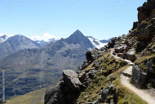 mata magnetyczna Weg an der Breslauer Hütte, Ötztaler Alpen