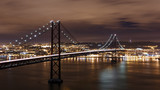 Night view of Lisbon and 25th of April Bridge, Portugal - 101075465