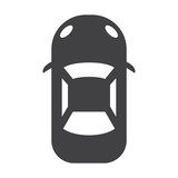 car black simple icon on white background for web