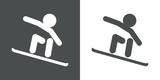 Icono plano snowboarding #2