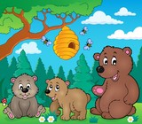 Bears in nature theme image 3