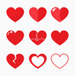 Hearts collection vector - 101116245