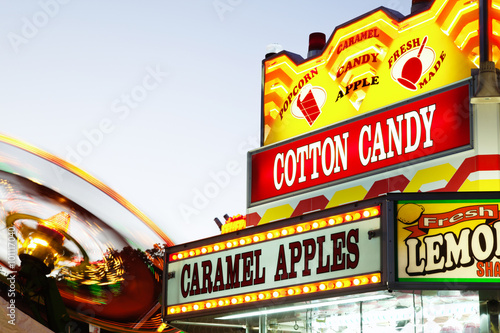 Carnival Concession Stand Sign and Ride