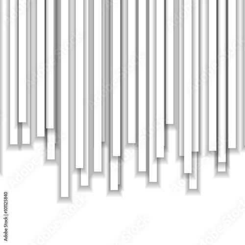 White Flow Background with White Columns