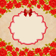 Vintage background with roses. Invitation, greeting card template