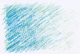 Fototapety abstract crayon textures blue color on white paper background
