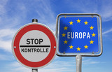 Stop, Grenzkontrollen in Europa - 101198476