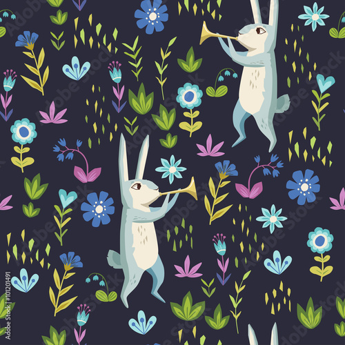 Cotton fabric Forest. seamless pattern