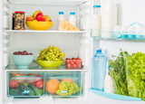 fridge inseide with food