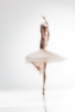 Blurred silhouette of ballerina on white background - 101214664